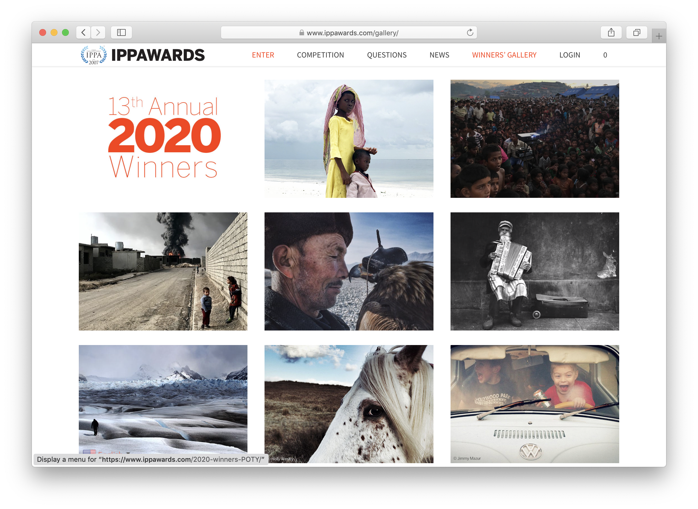 Скриншот с сайта https://www.ippawards.com/2020-winners-POTY/