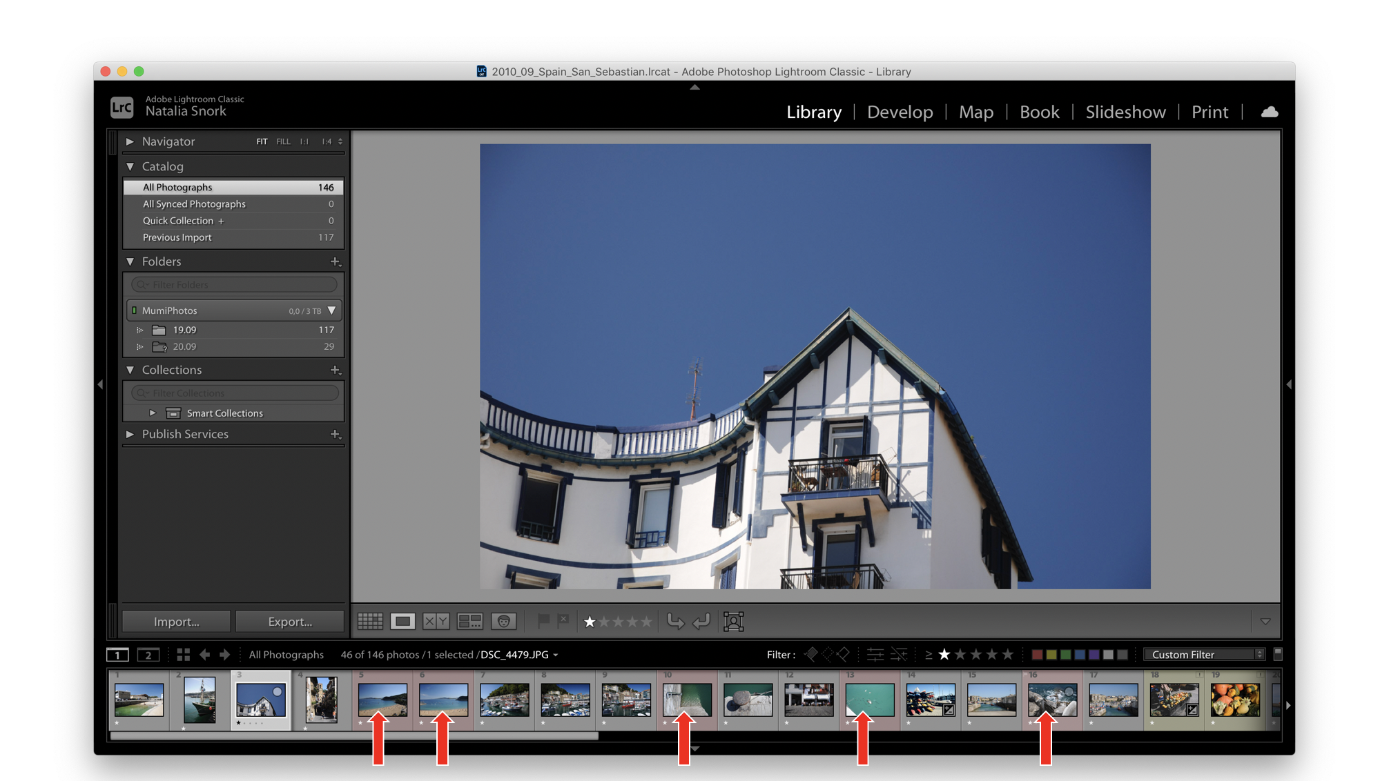 Adobe Lightroom, выделение цветом