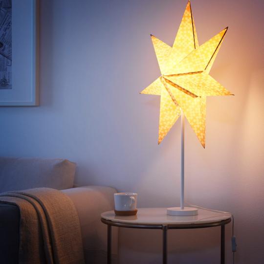 Скриншот с сайта IKEA.ru, звезда абажур СТРОЛА