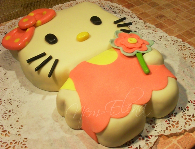 как приготовить торт hello kitty