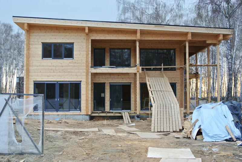 деревянный дом первая