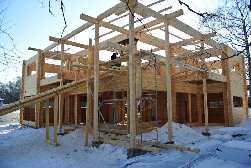 деревянный дом клееный брус