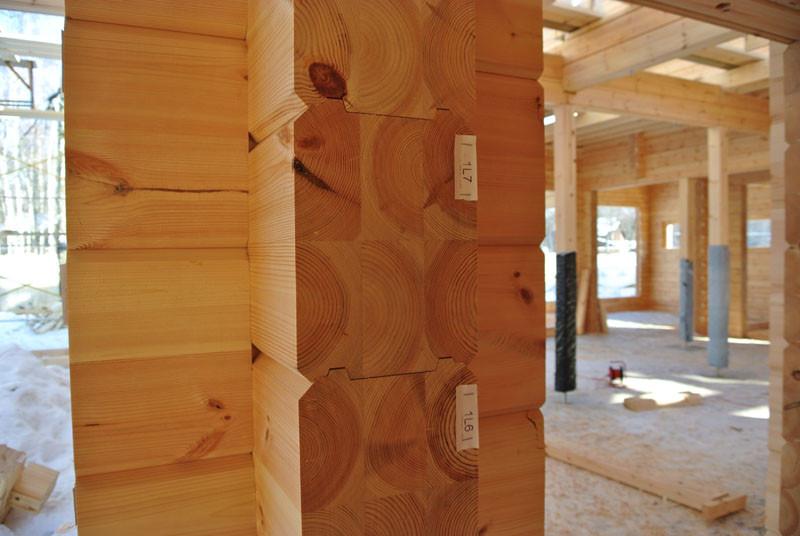 деревянный дом брус срез