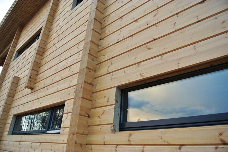 деревянный дом стена