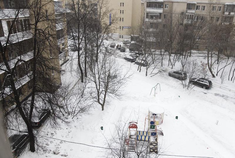 весна в московском дворе