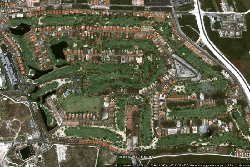 карта посёлка