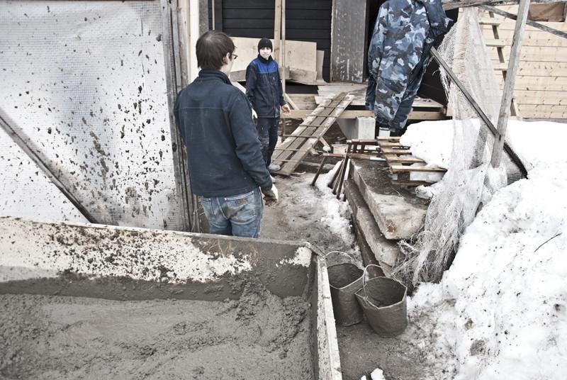снег в бетоне