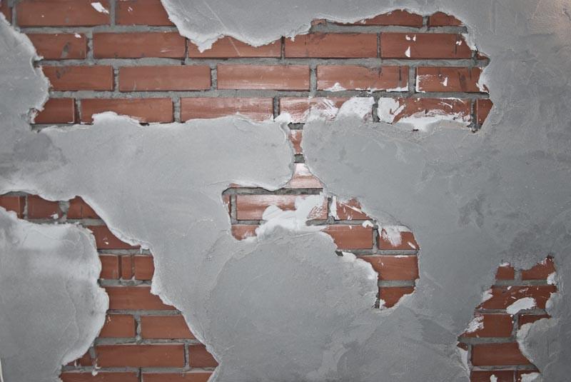 отделка кирпичной стены