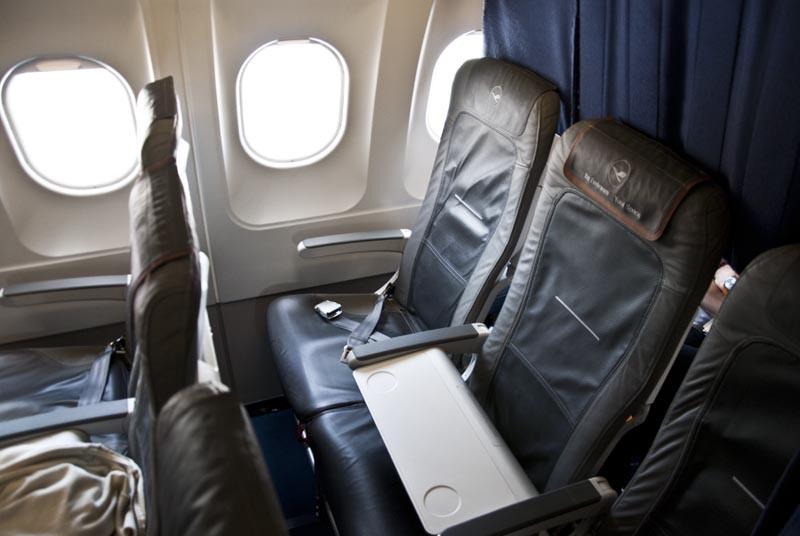 бизнес салон в самолёте