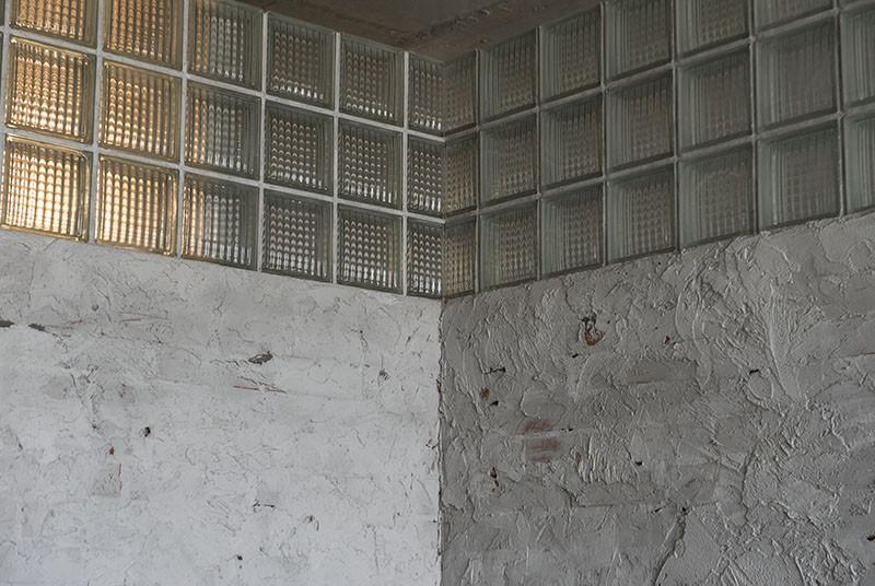 внутренний стык стеклоблоков