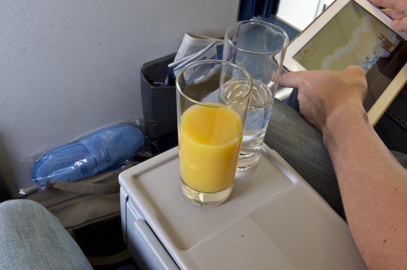 бизнес-класс напитки на борту