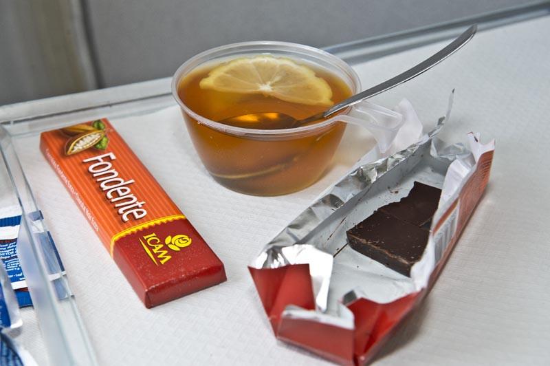чай в самолёте