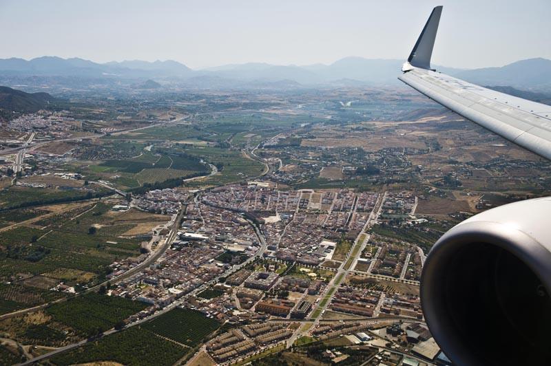 посадка в Малаге