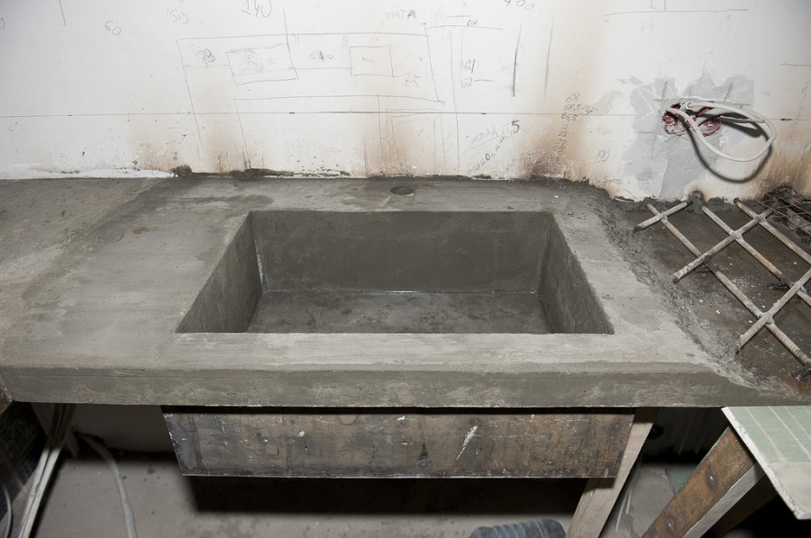 бетонная раковина
