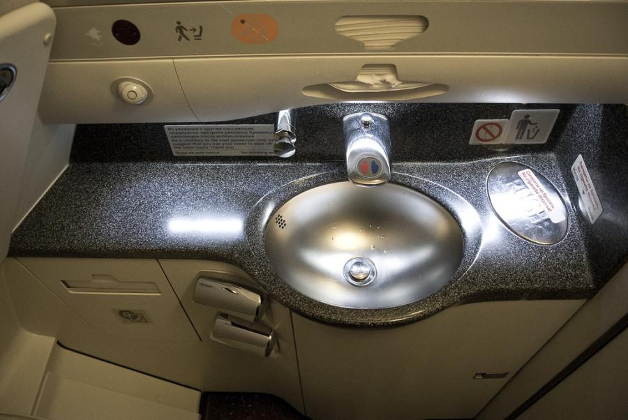туалет в самолёте