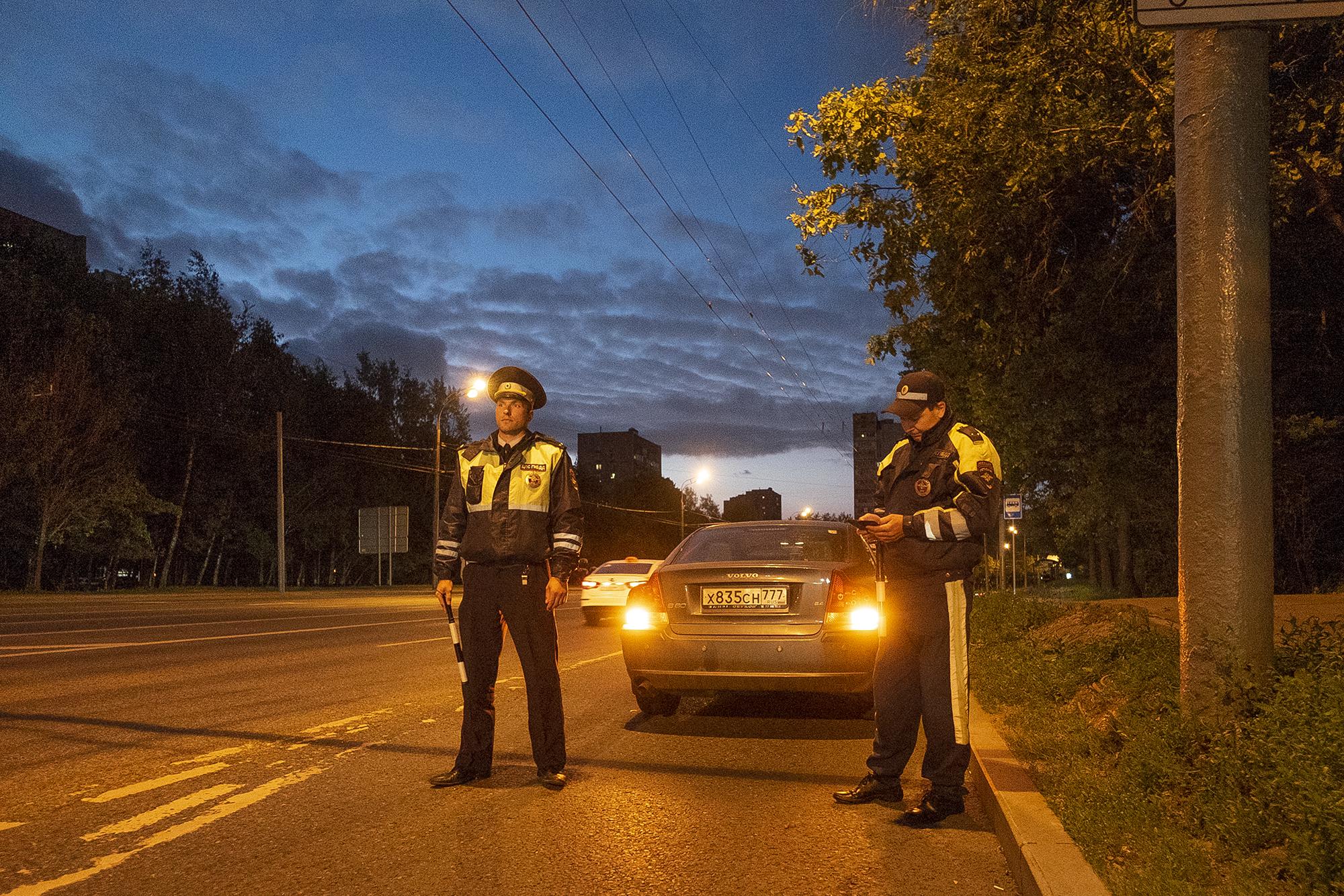 Демарш московской полиции