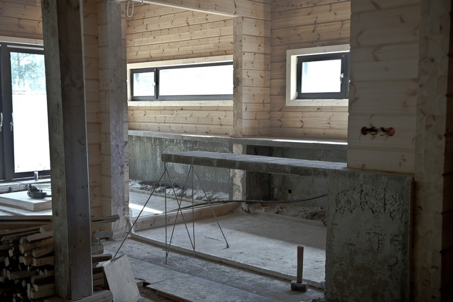 барная стойка из бетона