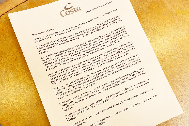 Бунт на круизном судне Costa Magica