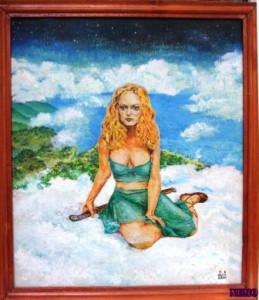 Девушка  на облаке2