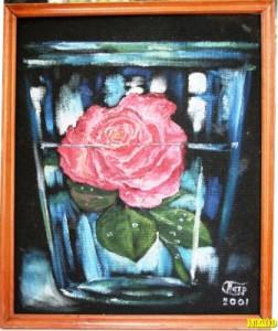 роза  в стакане )2