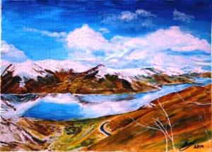 Озеро в Тибете 1