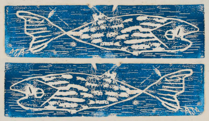 Вверху: Milton Avery 1952 Fish; внизу: hsiF 2591 yrevA notliM