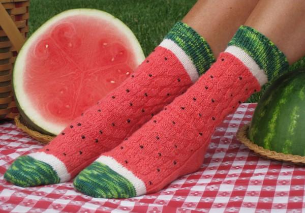 Watermelon-Slice-Socks