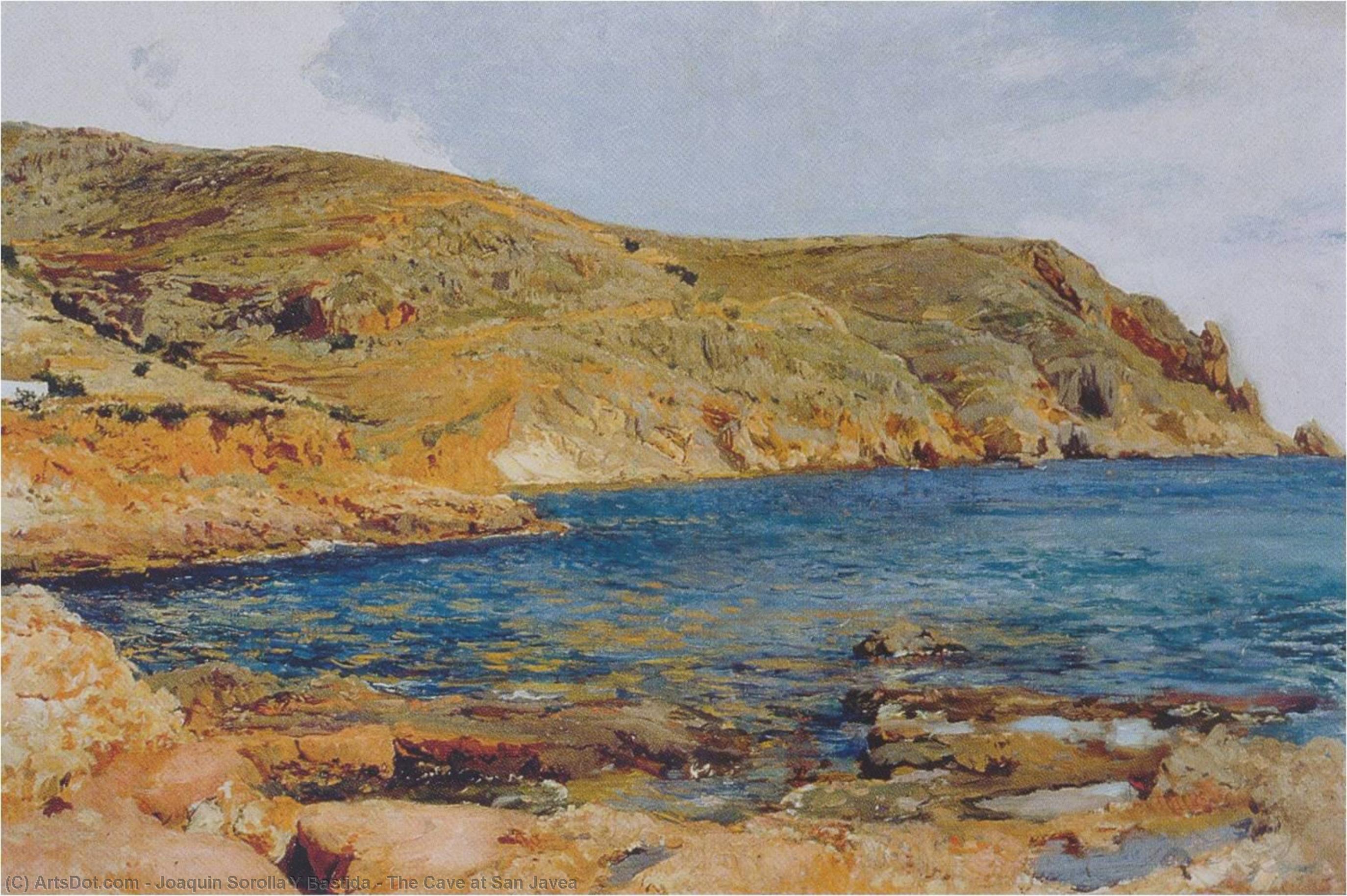 Joaquin-sorolla-y-bastida-the-cave-at-san-javea
