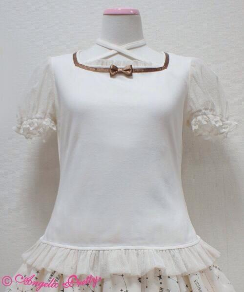 Angelic Pretty - Ivory - Airy Square Neck Cutsew