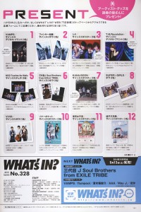 WHAT's IN 2014.09 - 27 - Present