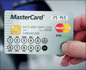 MasterCard Information Display Card