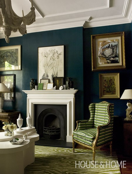 1 - Green and blue living room pictures ...