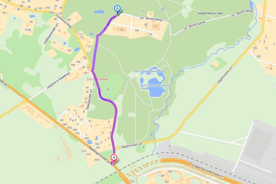 какой транспорт идет от озерков до выборгского шоссе 35 километр