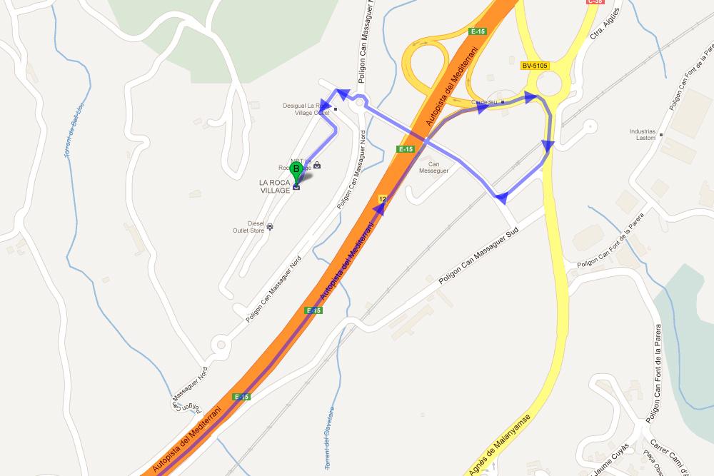 La-Roca-Village-map
