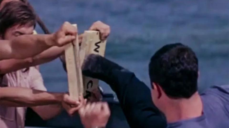 """Каратэ. Кадр из фильма """"Пираты XX века"""""""