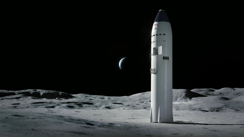 Многоразовый одноступенчатый посадочный модуль SpaceX для высадки людей на Луну, Марс и куда угодно. Изображение из твиттера администратора НАСА Джима Бриденстайна