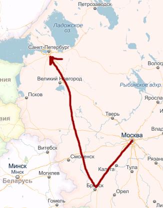 маршрБрянск