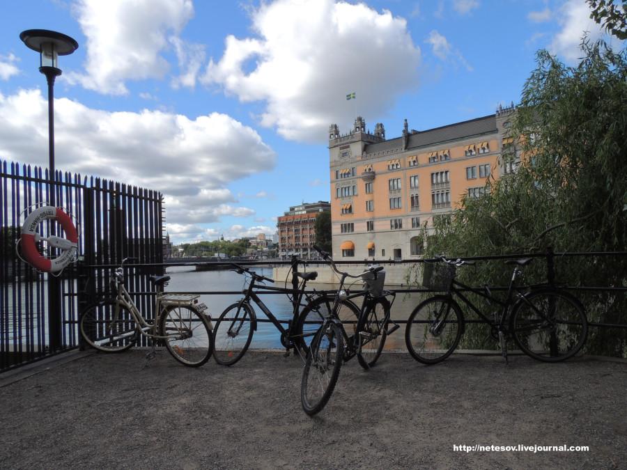 Стокгольм прекрасен облаками