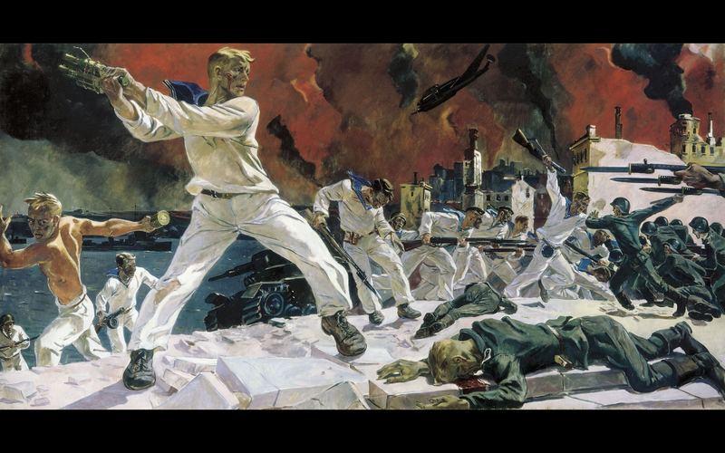 """Оборона Севастополя\\"""". 1942г. А.А. Дейнека"""