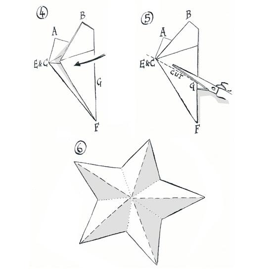 Звезды вырезать из бумаги своими руками