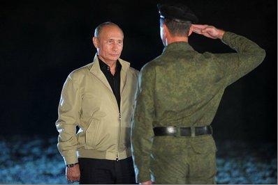 Пукин принимает рапорт