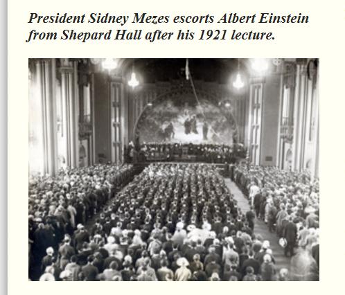 Эйнштейн в Shepard Hall