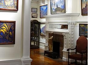 Дом-музей Н.К.Рериха, у камина