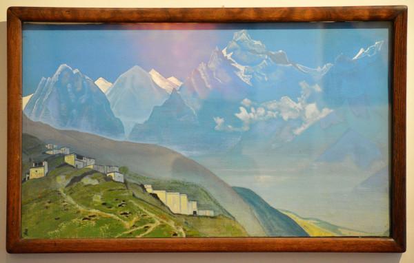 04 На Кайлас Лахул (1932) Холст, темпера 46,3 х 79,0