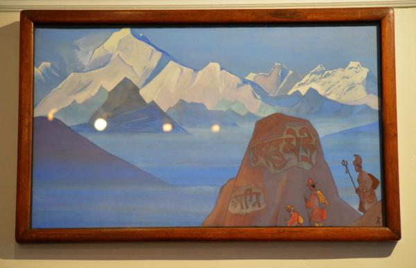 06 Путь на Кайлас (1932) Холст, темпера (46,7 х 79,3)