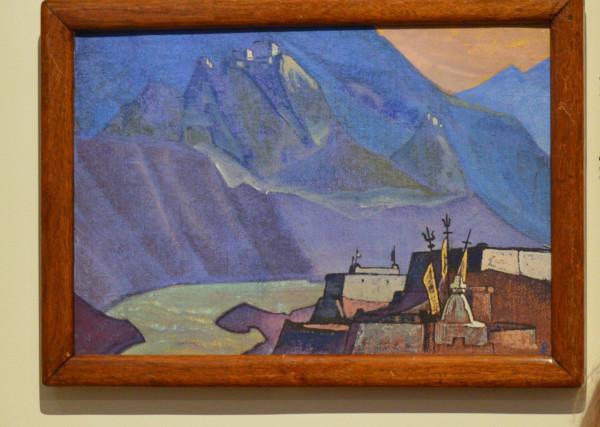 23 Река Чандра (1932) Холст на картоне, темпера  (30,5 х 44,5)