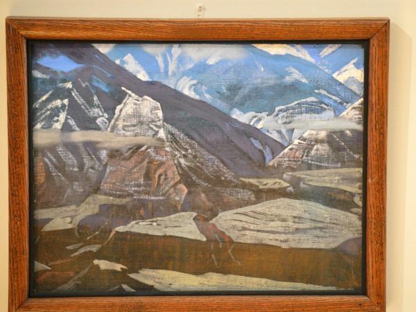 27 Форт Бхарагарх (1929) Холст на картоне, темпера (32,0 х 41,7)