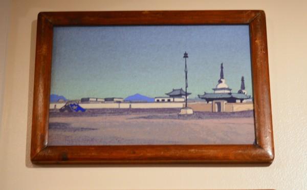 28 Батухалка, столица Внутренней Монголии (1936) Картон, темпера 30,5 х 45,8