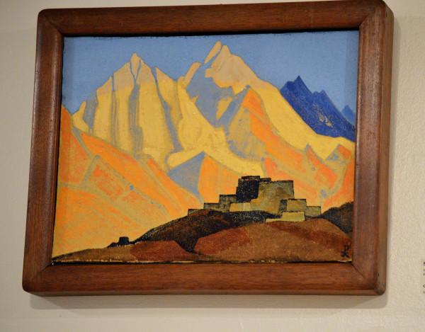 32 Священные Гималаи (1933) Холст на доске, темпера (32,8 х 44,0)