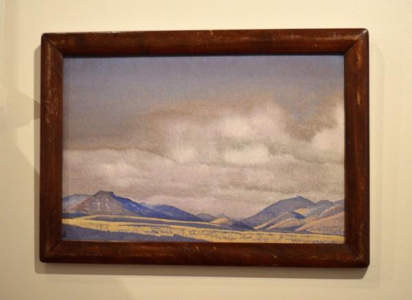 45 Монголия, Холмы Чахара (1936) Картон, темпера (30,2 х 45,6)
